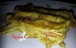 lasagne al pistacchio e speck - paprica e cannella