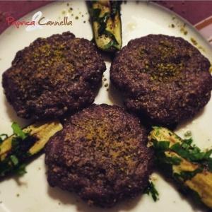 hamburger con pistacchio - paprica e cannella