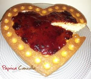 tort con cuore di marmellata - paprica e cannella