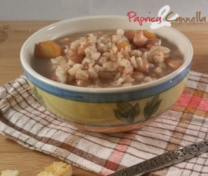 minestra di fagioli e orzo perlato paprica e cannella