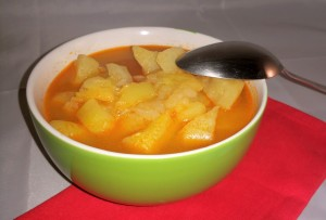 minestra di patate e zucchine paprica e cannella