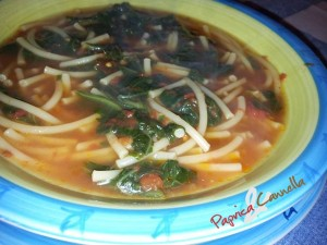 minestra di tenerumi - paprica e cannella