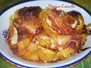 conchiglioni alla mozzarella - paprica e cannella