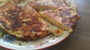 frittata di cipolle - paprica e cannella