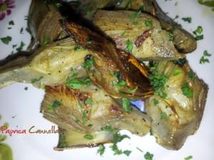 carciofi trifolati - paprica e cannella