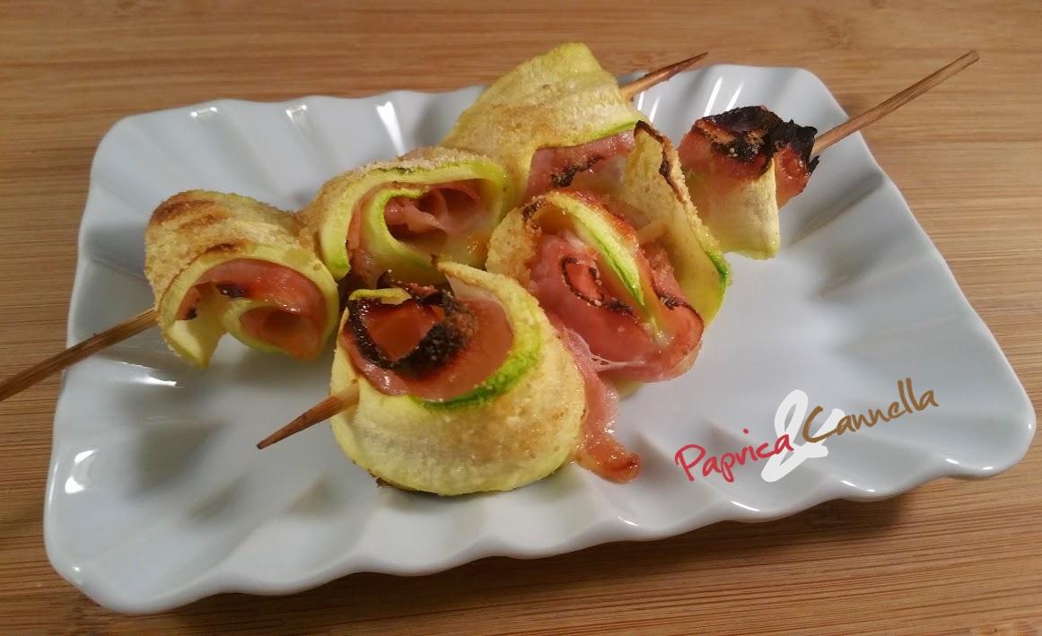 Spiedini di zucchine