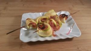 spiedini di zucchine paprica e cannella