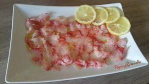 capaccio di pesce paprica e cannella