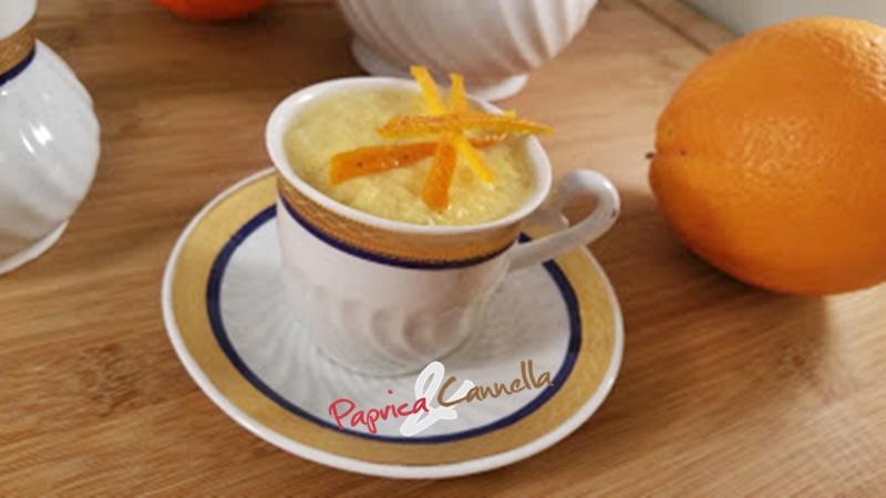 Crema inglese all'arancia