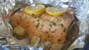 salmone al cartoccio - paprica e cannella