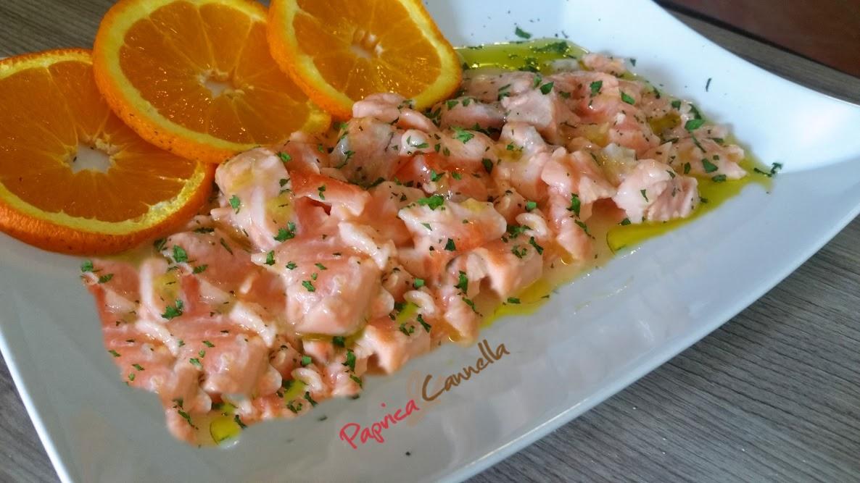 Tartare di salmone agli agrumi