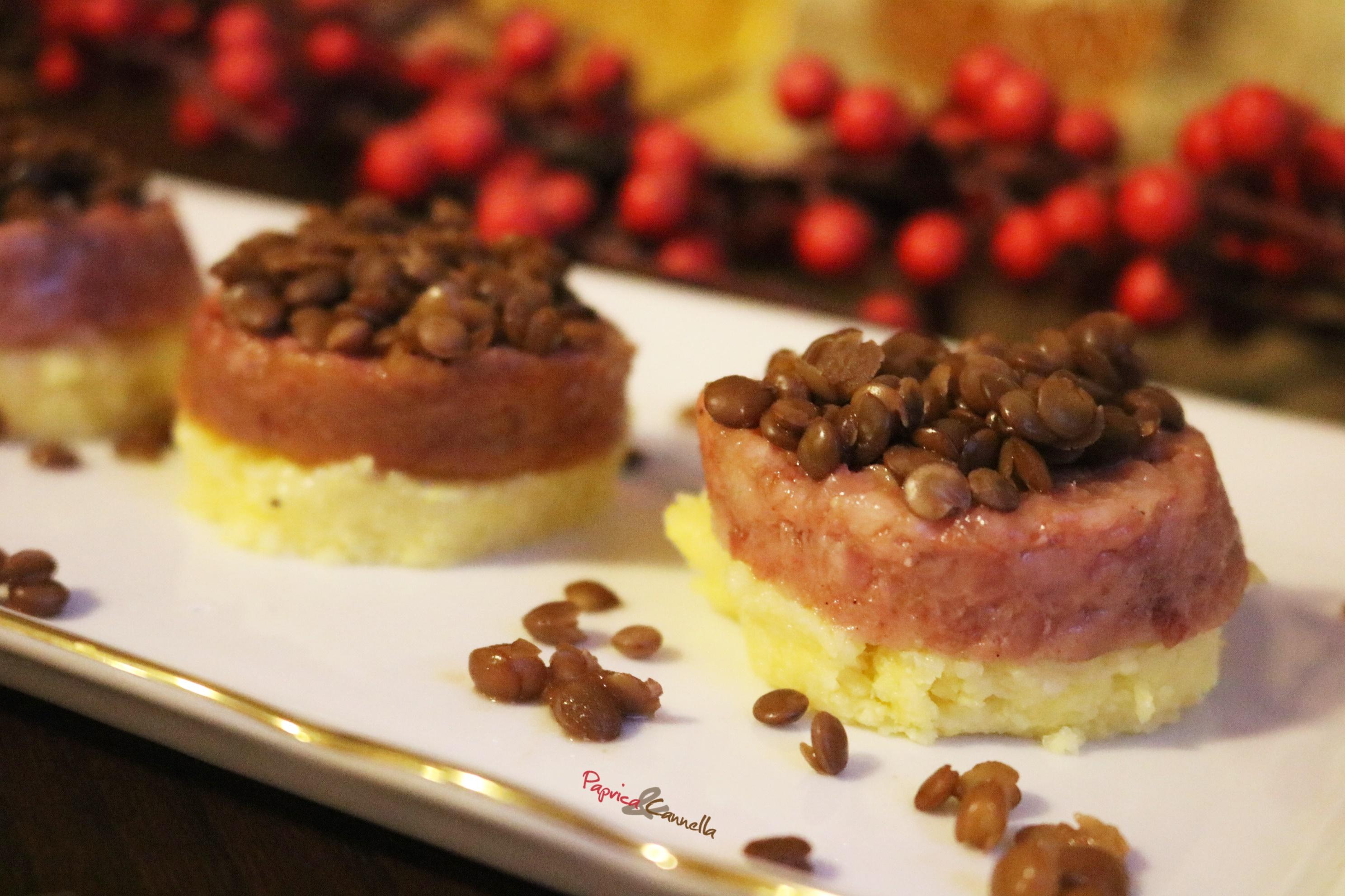 Tortino di Cotechino e Lenticchie finger food